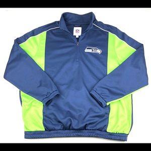 NFL Seattle Seahawks full zip fleece jacket Sz 2XL